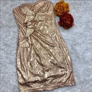 Hailey Logan Adrianna Papell Metallic Mini Dress